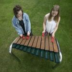 Twee spelers tegelijk op de Gote Marimba