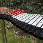 Duo Besso - noten: helft aluminium en helft Ipé-hardhout