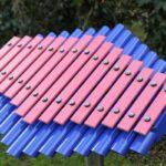 Sansa-Rimba Bellata - noten uit fiberglas op indigo resonatoren