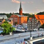 De stad Bydgoszcz in Polen