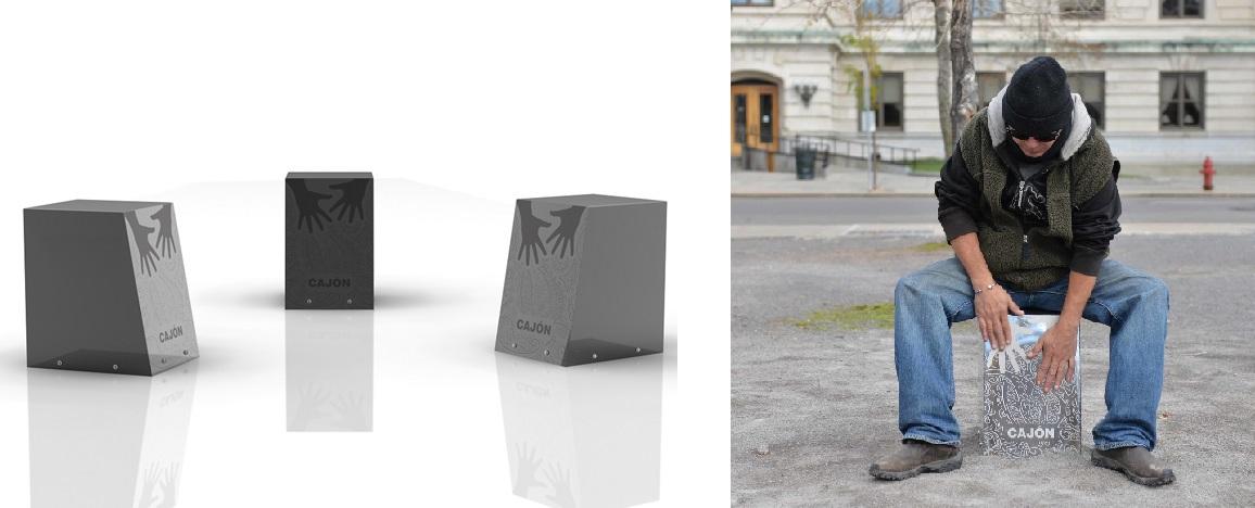 Cajon zitdrums uit RVS - voor een ijzersterke drumcirkel in de openbare ruimte
